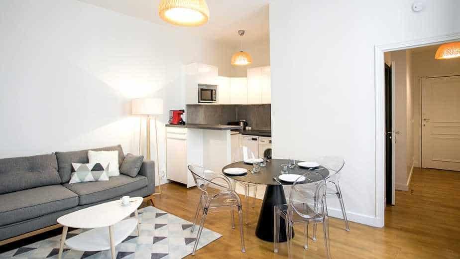 Living room modern flat