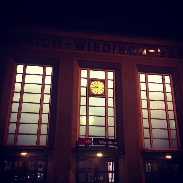 Wiedikon train station clock