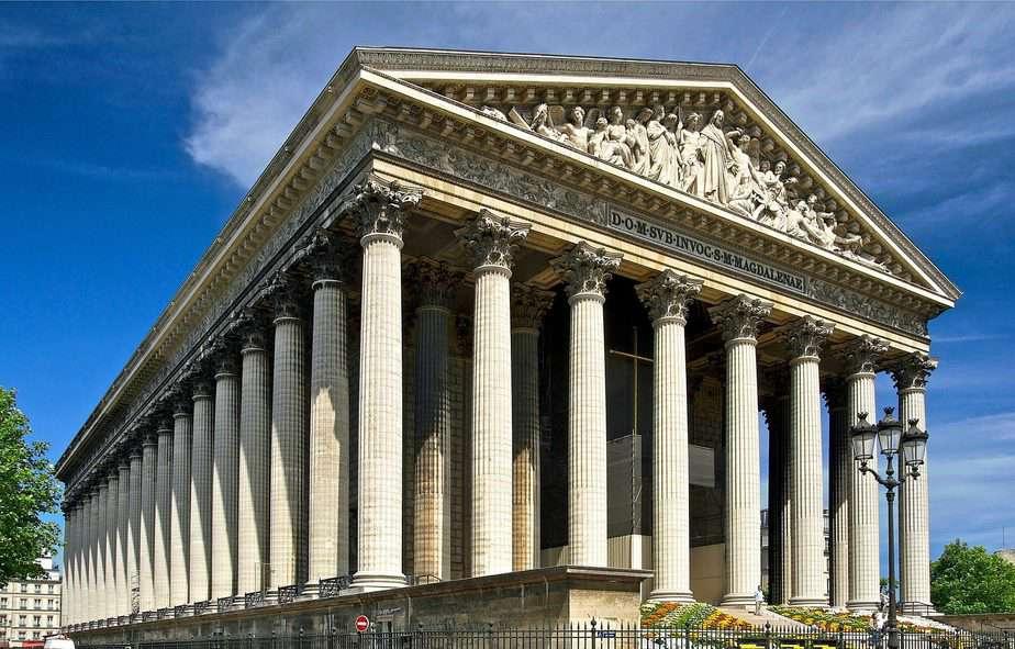Madeleine area in Paris